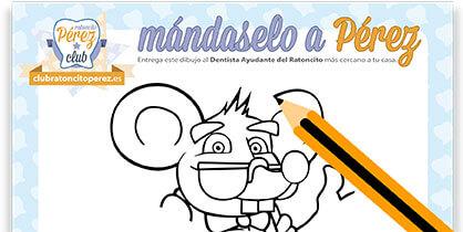 Hoja para colorear y participar en el Sorteo a Disney del Ratoncito Pérez