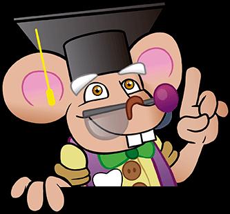 El Ratoncito Pérez con sombrero de Licenciado
